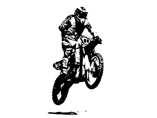 Motocross Stock Vector Illustration by http://www.fineart-work.com