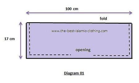 Bonnet underscarf sewing pattern diagram 01
