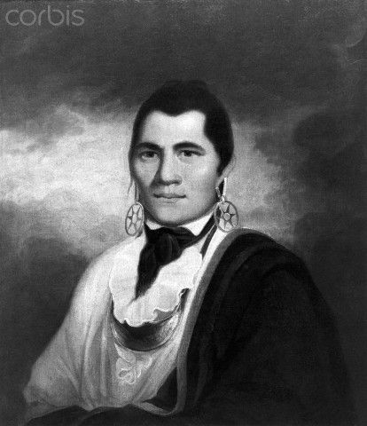 Mohawk Indian Chiefs | Mohawk Indian Chief Joseph Brant - BE037308 - Rights Managed - Stock ...