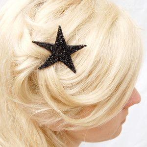 Glittery Accents For Grown-Ups: Giant Dwarfs, Sparklers Onyx, Stars, Bleach Blondes Hair, Starlett Sparklers, Hair Accessories, Products, Hair Clip, Bobby Pin