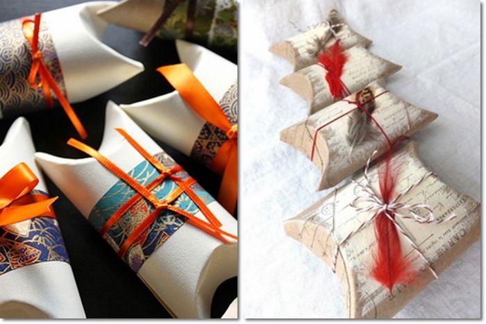 Come riciclare i rotoli di carta igienica:  pacchetto regalo