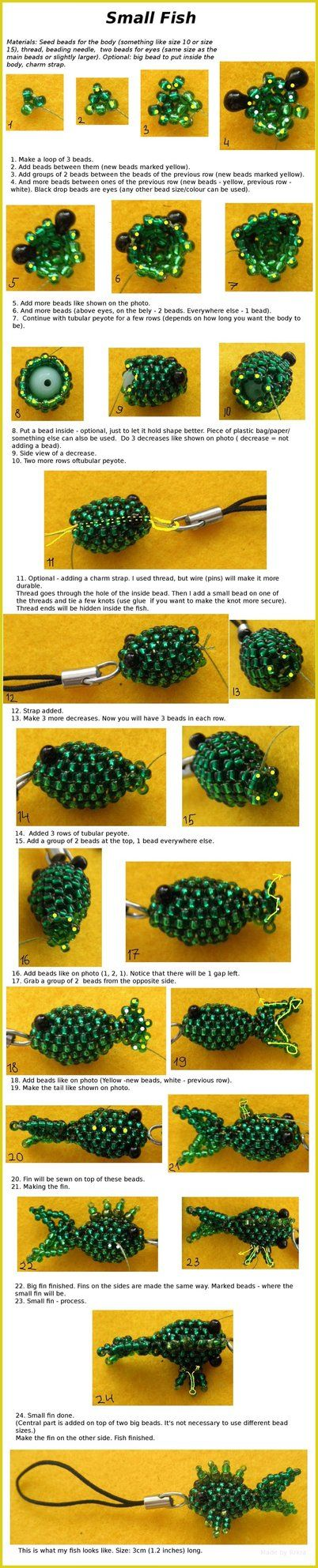 Small Beaded Fish by *Rrkra on deviantART I just want to make this to say that I can