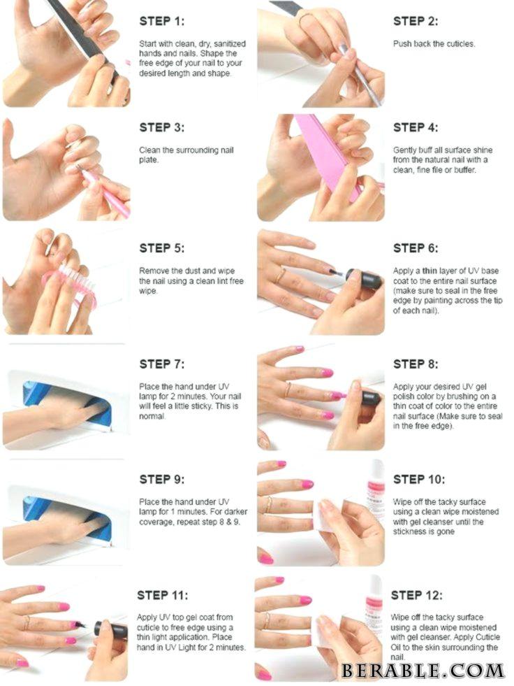 Uv Gel Nails Step By Guide New Items Manicure World My Weblog Uv Gel Nails Etape Par Guide Nouveaux Articles Man Gel Nail Tutorial Gel Manicure Gel Nails Diy