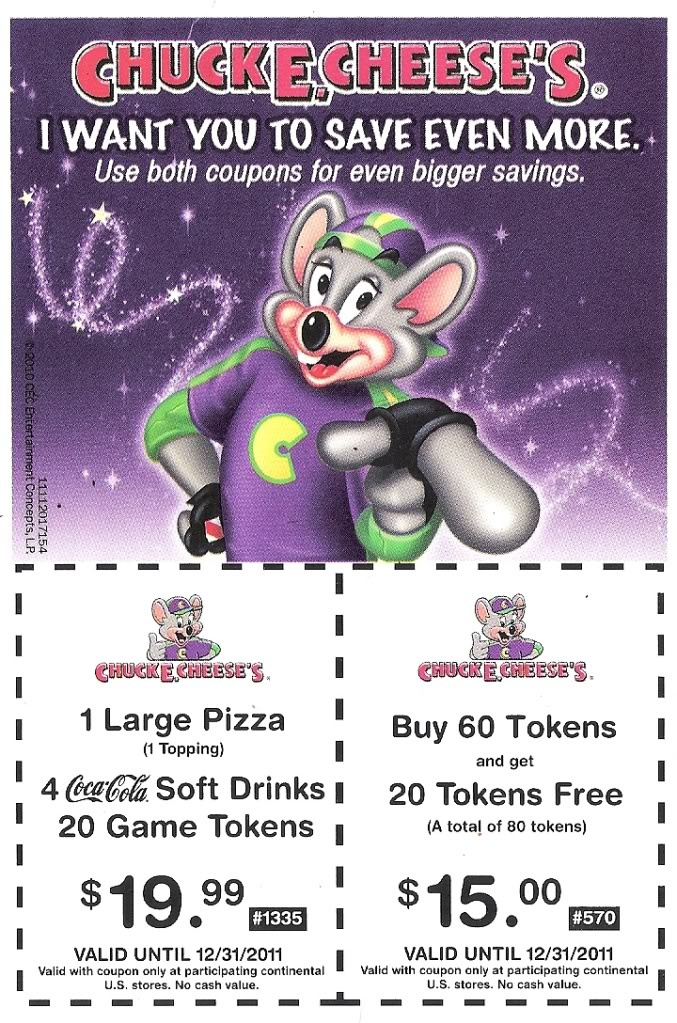 Chuck E Cheese coupons Kidable Stuff Pinterest Cheese and