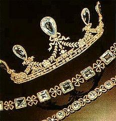 Aquamarine parure belonging to Grand Duchess Elizabeth Feodorovna of Russia