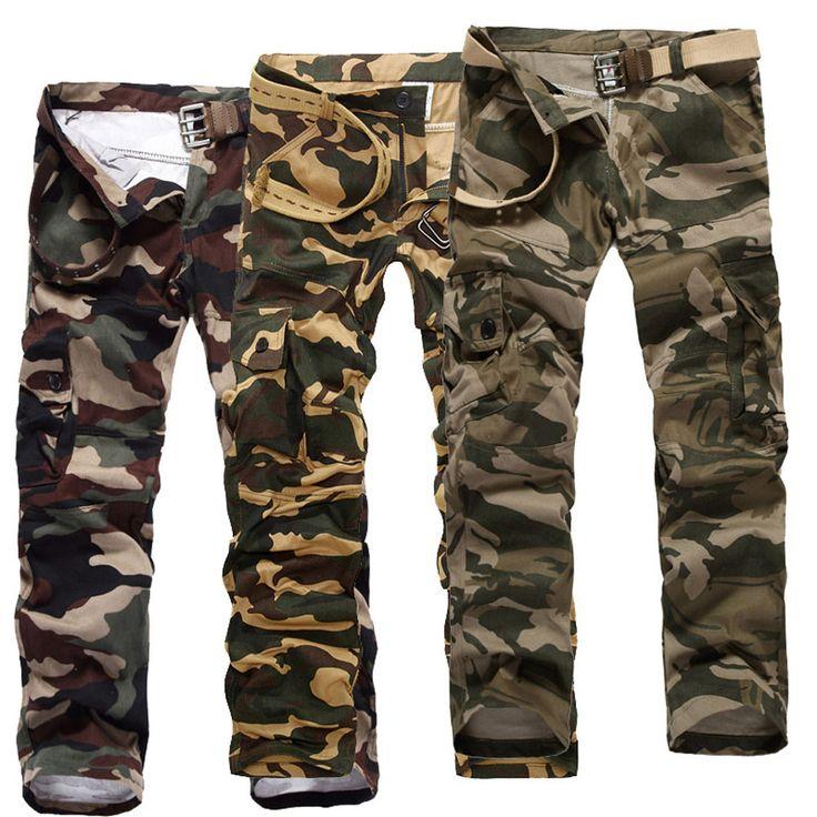 Купить товар2014 мужчин открытых площадках сталкивателем военные тощие камуфляж хип хоп зимние тактические армия XXXL брюки мульти карманы calca masculina в категории Повседневные штанына AliExpress.