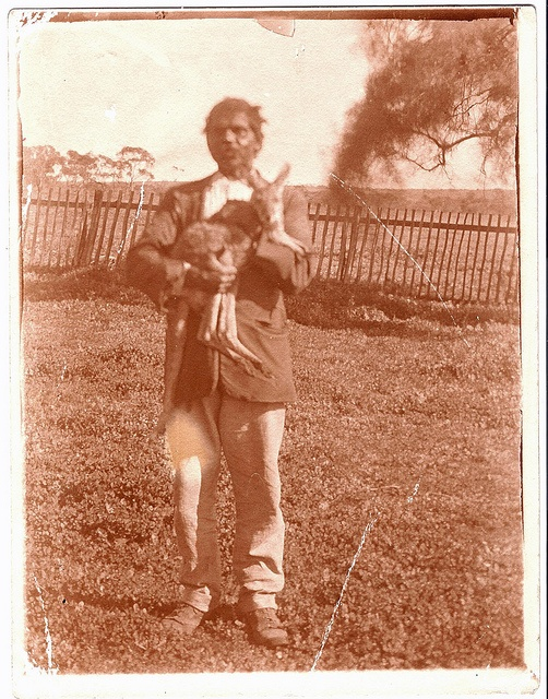 This is an unconfirmed photograph of renowned Aboriginal tracker Carnamah Tommy, who worked in Carnamah for many years. It is taken within the yard of the Macpherson family's homstead Carnamah House. After leaving the district he became known as Tommy Carnamah, with his descendants having the surname of Carnamah.