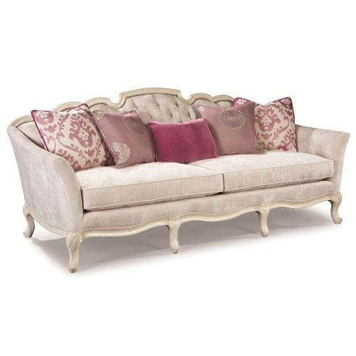 Sectional Couch In Toronto: Rachlin Classics Rochelle Exposed Wood French Sofa With