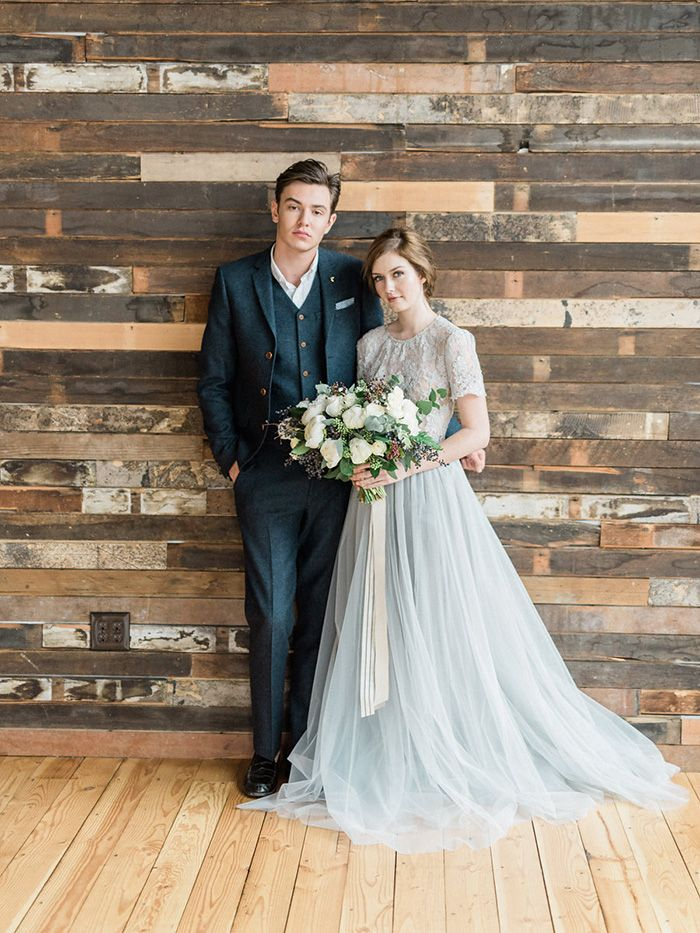 Navy Blue and Gray Wedding Styling