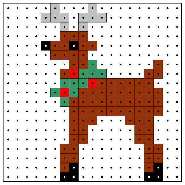 Christmas reindeer perler bead pattern