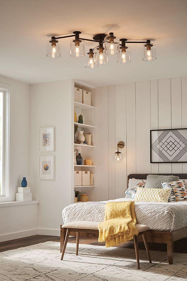 Extra Large Semi Flush Mount Low Ceiling Bedroom Master Bedroom Lighting Chandelier In Living Room
