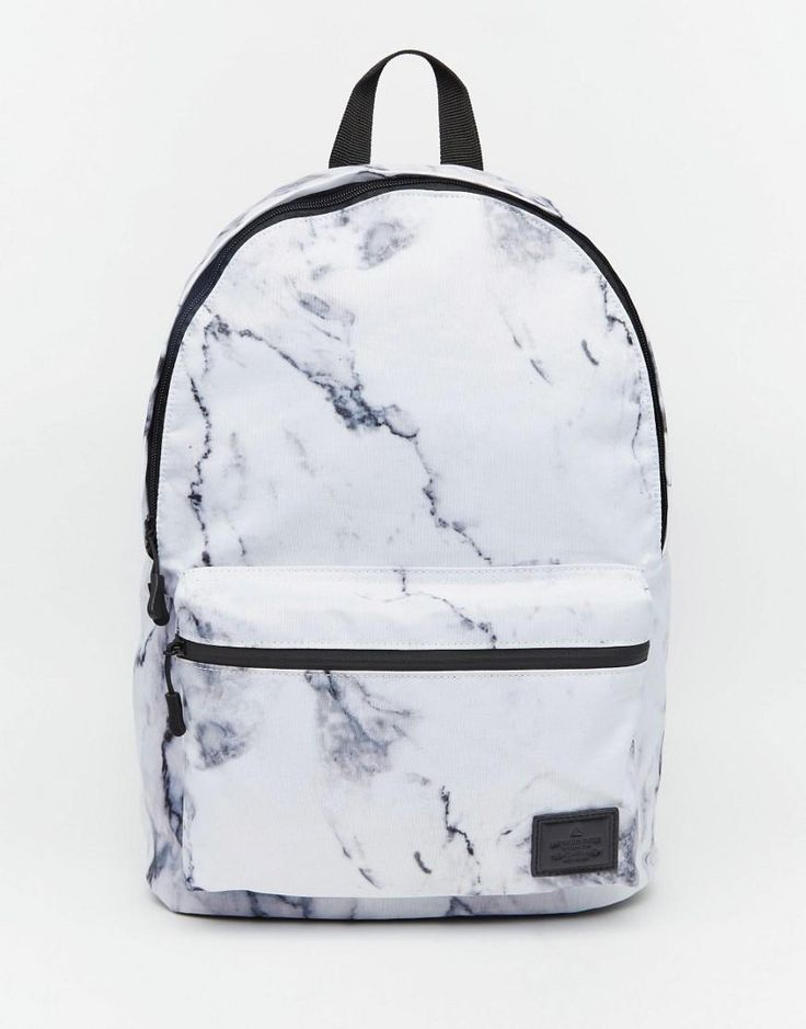 ASOS | ASOS Backpack in Marble Print at ASOS