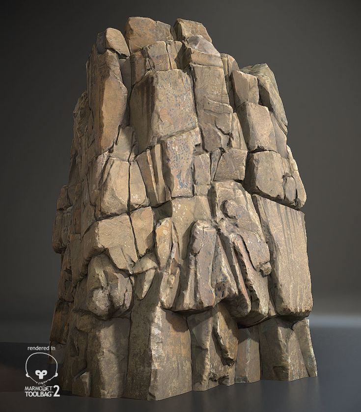 cliff rock, Chae WonHee on ArtStation at https://www.artstation.com/artwork/PJ4GB