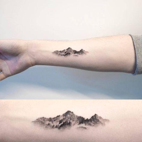 Mountain tattoo by @ilwolhongdam