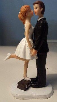 cake topper - emozionarsi coppia di sposi stile retro romantici
