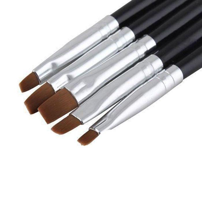5Pcs/set Acrylic UV GEL Nail Art Design Set Liner Painting Dotting Brush Pen Builder for Acrylic Size Nail Decoration Tools