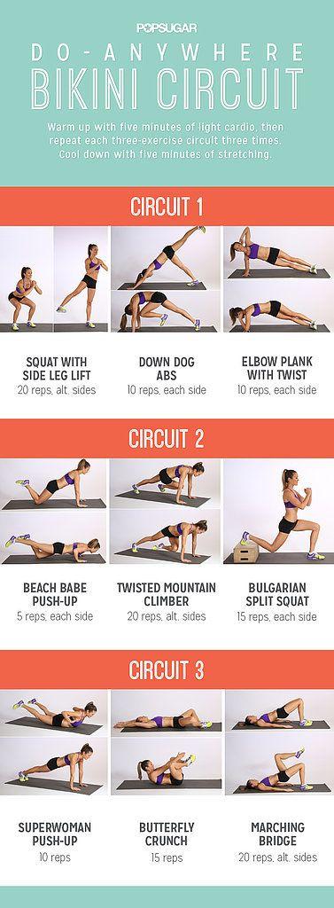 Printable, Do-Anywhere Bikini Workout