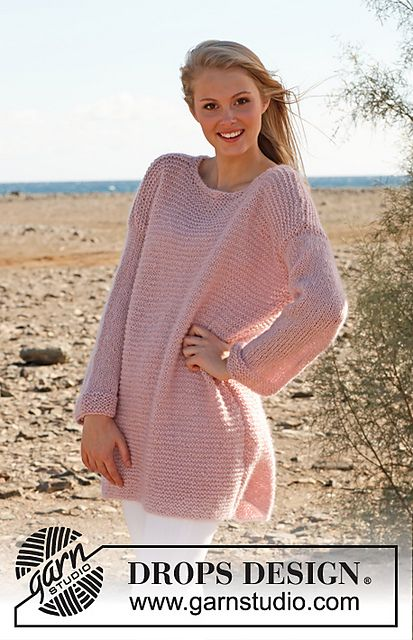 Ravelry: 148-36 Jumper in garter st in Alpaca, Kid-Silk and Glitter pattern by DROPS design