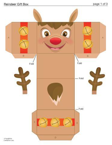 Reindeer Gift Box (Printable Christmas Activity for Kids)   Spoonful