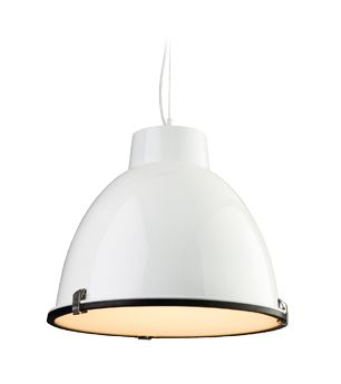 Firstlight Manhattan 1 Light Pendant White With Frosted Glass Diffuser