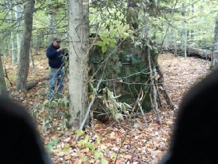 homemade htm blind house equipment wild photo blinds dog carolina doghouseblind the ground notes covered portableblind