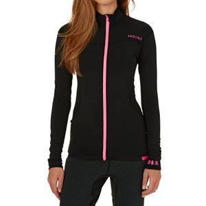 Prolimit Wetsuit Jackets - Prolimit Womens SUP Top 2017 Convertible Wetsuit Jacket - Black/ Pink