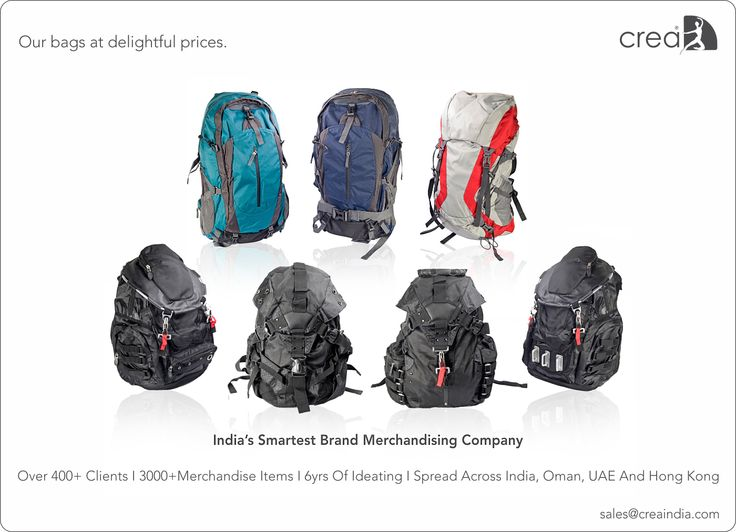 Rucksacks by Crea - India's smartest brand merchandising company.