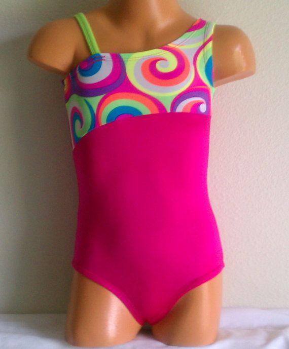 Cute Gymnastics Leotards for Girls | gymnastics leotardtoddler and girls sizes cute swirl by KaiKayLeos