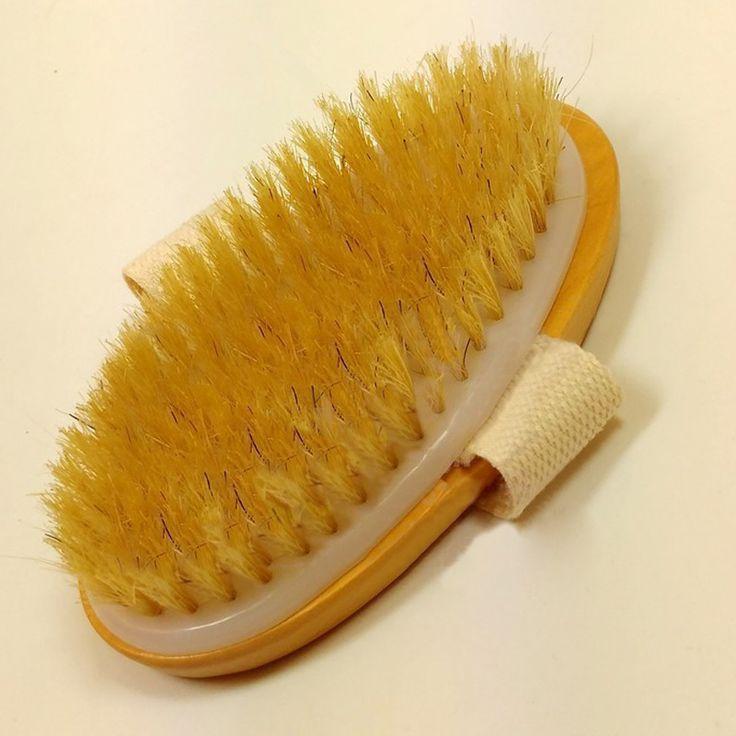 Nieuwe Droge Huid Lichaam Borstel Natuurlijke Borstel Zachte Handvat Pouch Brush SPA Borstel HB88