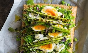 This easy to assemble asparagus, pea and feta tart makes for a great brunch for family and friends