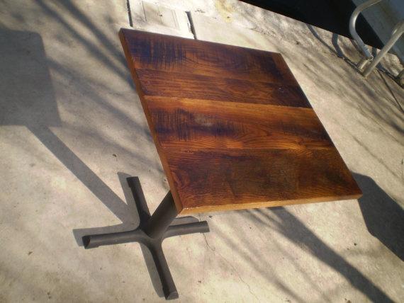 Reclaimed Wood Table. Restaurant ...