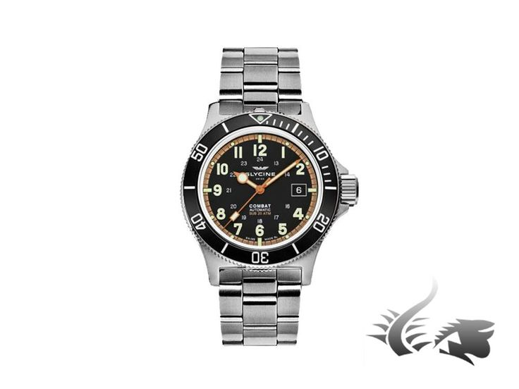 Glycine Watch Combat Sub -200m- Metal Bracelet Automatic-3863.19AT | Iguana Sell