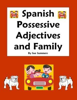 62 best spanish grammar pins images on pinterest learning spanish possessive adjectives family worksheet fandeluxe Choice Image