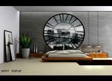 CL-624 Φωτοταπετσαρία τοίχου ρολόι Brooklyn bridge vlies 208x208