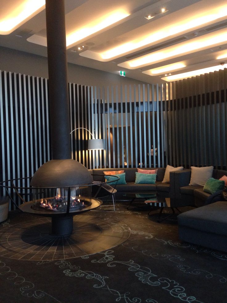 Open fire place in Crown bar.