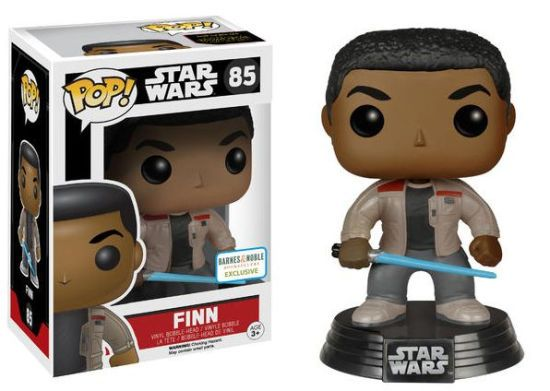 Hasbro Funko Disney Lucasfilm Funko Pop! Star Wars Episode VII: The Force Awakens Series: #85 Finn with Lightsaber (Barnes & Noble Exclusive) Pop! Bobble Head Vinyl Figure with Display Stand & Box Hasbro, Funko, Disney & Lucasfilm Ltd. 2016 PREORDER!!!