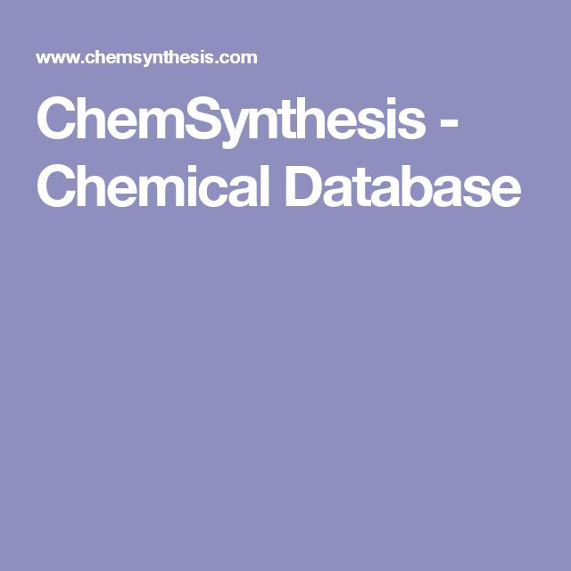 ChemSynthesis - Chemical Database