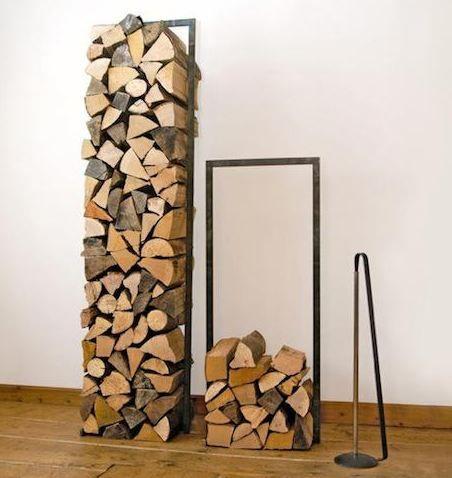 Fireplace wood holder