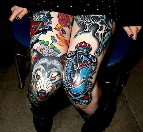 45 Best Images About Thigh Tattoos On Pinterest: 17 Best Images About Knee Tattoos On Pinterest