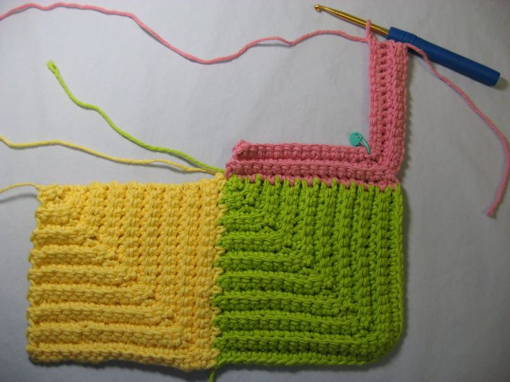 Great pattern for scrap yarn. It comes out ribbed, more like knitted. never boring. Make large or baby sized. This tutorial makes it easier to figure out. Once you do, have a ball.