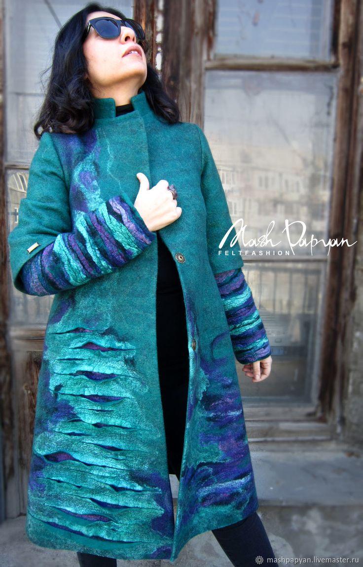 """Валяное пальто """"Трещины"""" – купить в интернет-магазине на Ярмарке Мастеров с доставкой"""