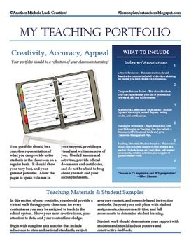 TEACHING PORTFOLIO CHECKLIST FOR NEW TEACHERS OR TEACHER INTERVIEW - TeachersPayTeachers.com
