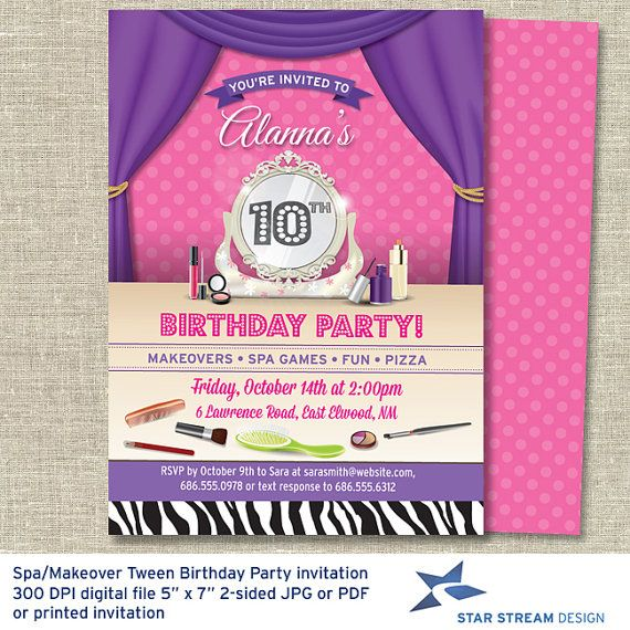 24 best Invitations to partys images – Makeover Party Invitations
