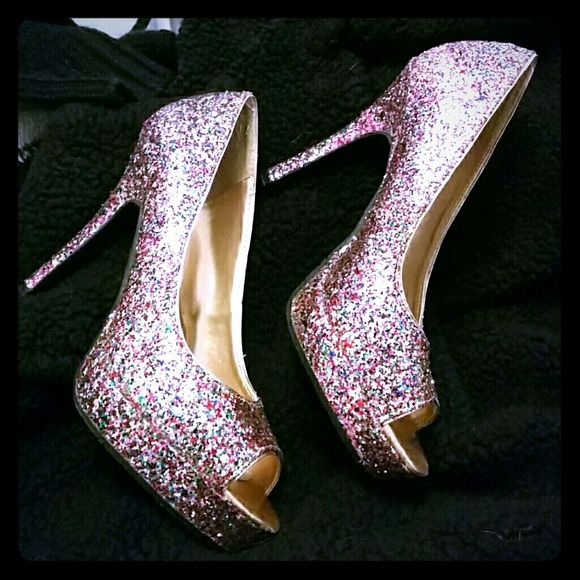 Super sale!!! Sequins shoes by Candie's Barely worn. Super comfy and stylish sequin shoes Candie's Shoes