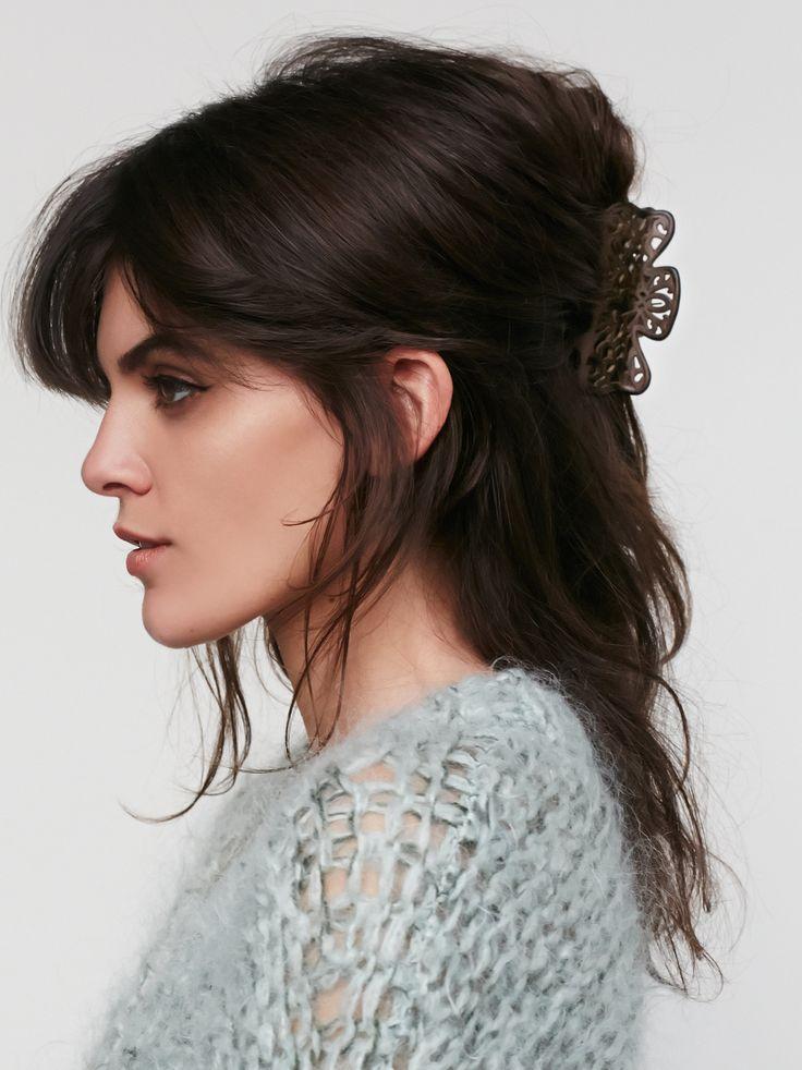 Cascades cutout claw clip hairstyles hair styles hair