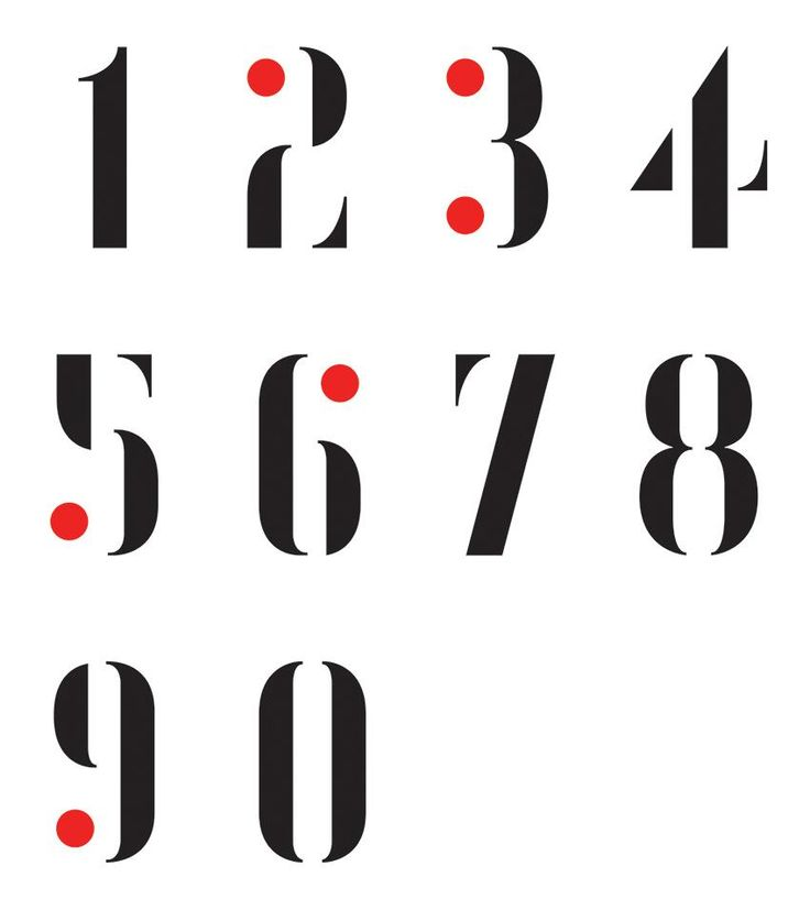 Numbers designed fonts images for Blueprint number