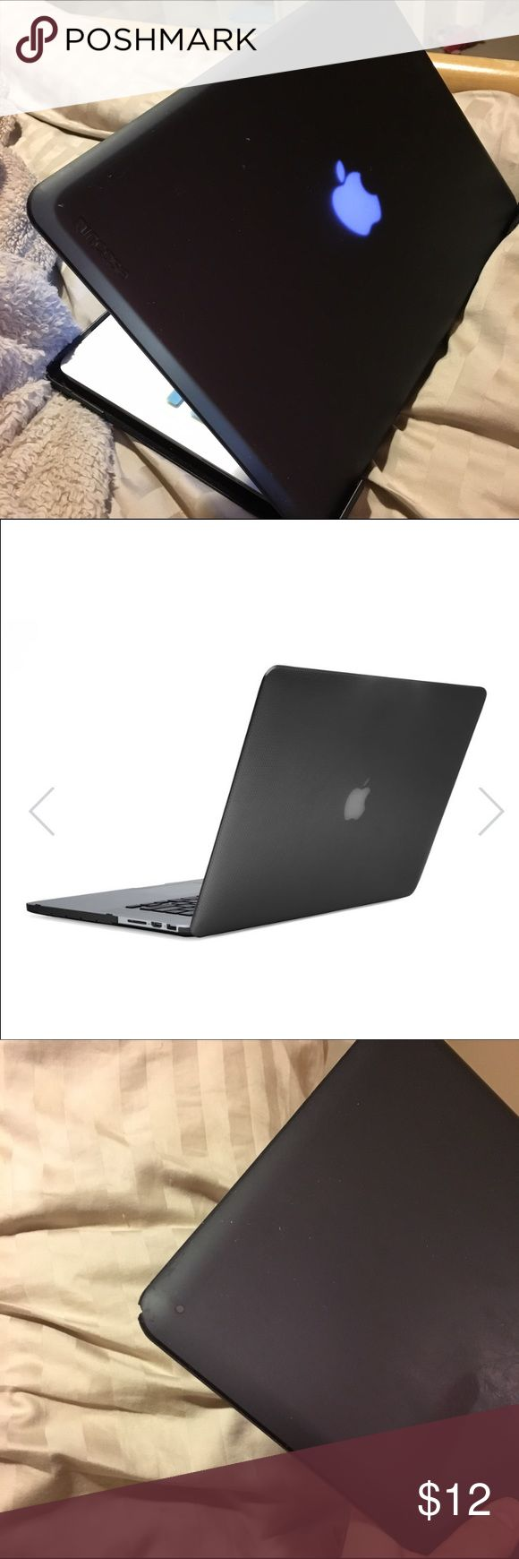 MacBook Pro case By Incase, fits second generation MacBook Pro that have the dimensions in the fourth picture. Third picture shows small imperfection. Works perfectly find and the color is matte frost black Accessories Laptop Cases