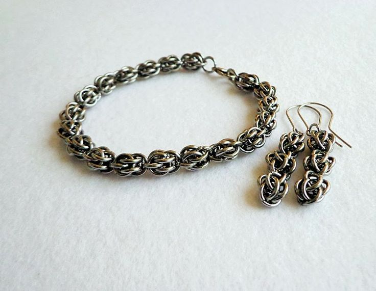 Komplet chainmaille ze stali