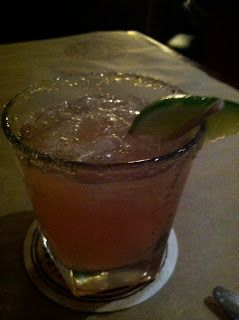 huckleberry margarita :  tequila, cointreau, sour mix, & huckleberry syrup
