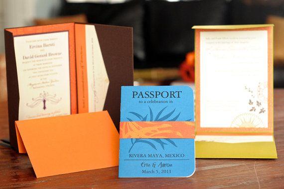 Passport Wedding Invite